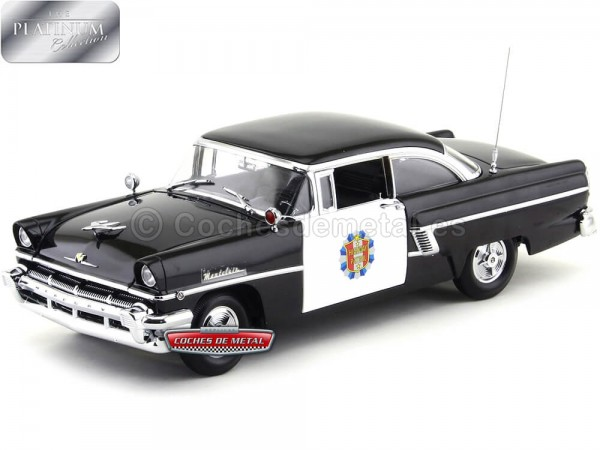 1956 Mercury Montclair Hard Top Police Car Black-White 1:18 Sun Star 5146 Cochesdemetal.es