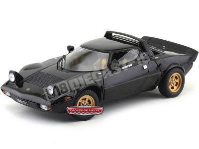 1975 Lancia Stratos Stralade Negro Metalizado 1:18 Sun Star 4563 Cochesdemetal.es
