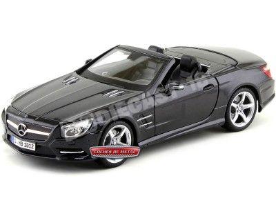 2012 Mercedes-Benz SL500 (R231) Convertible Negro 1:18 Maisto 31196 Cochesdemetal.es