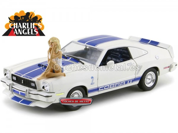"1976 Ford Mustang II Cobra II ""Los Angeles de Charlie + Farrah Fawcett"" 1:18 Greenlight 12880B"