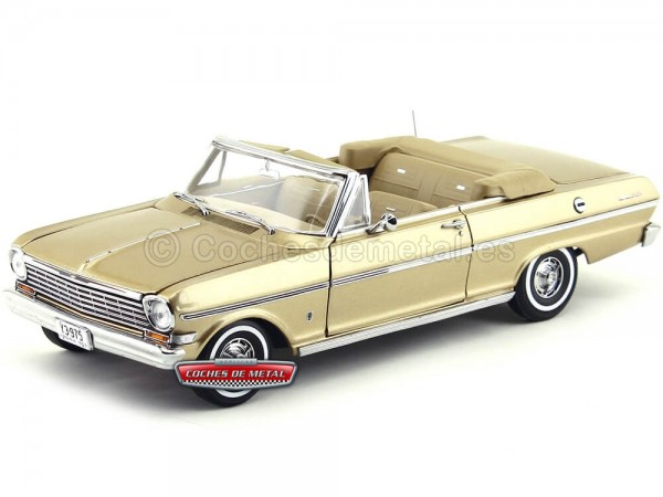 1963 Chevrolet Nova Open Convertible Saddle Tan 1:18 Sun Star 3975 Cochesdemetal.es