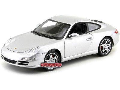 2006 Porsche 911 (997) Carrera S Coupé Gris Metalizado 1:18 Welly 18004 Cochesdemetal.es