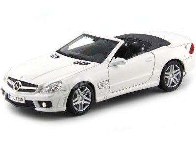 2009 Mercedes-Benz SL 63 AMG Cabrio Blanco 1:18 Maisto 31168 Cochesdemetal.es