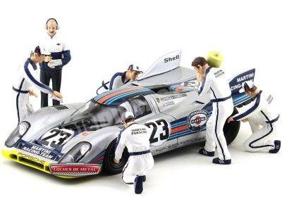 1977 Set de 6 Mecánicos + Director del Equipo Martini Racing 1:18 True Scale TSM10AC05 Cochesdemetal.es