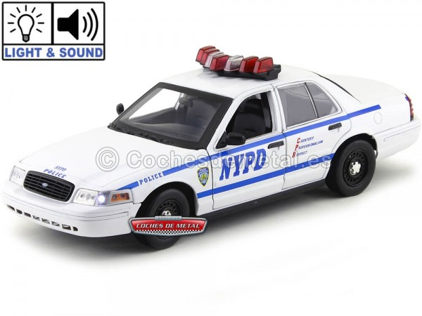 "2001 Ford Crown Victoria Interceptor NYPD ""Con Luz y Sonido"" 1:18 Greenlight 12920 Cochesdemetal.es"