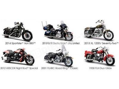Lote 6 Motocicletas Harley-Davidson 1:18 Maisto 31360 Series 33 Cochesdemetal.es