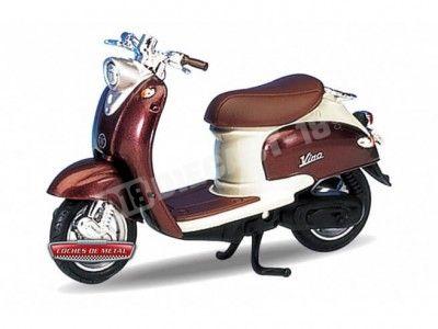 1999 Yamaha Vino YJ50R Brown-Cream 1:18 Welly 12142 Cochesdemetal.es