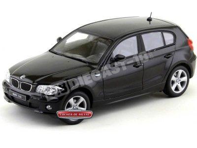2004 BMW Serie 1 (E87) 120i Negro Metalizado 1:18 Welly 12557 Cochesdemetal.es