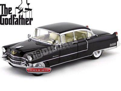 "1955 Cadillac Fleetwood Series 60 Special ""El Padrino"" Negro 1:18 Greenlight 12949 Cochesdemetal.es"