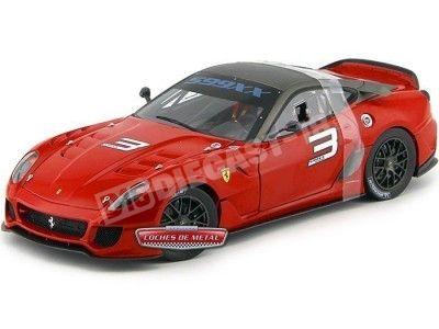 2010.- FERRARI 599XX Rojo (Serie Elite T6251). Cochesdemetal.es