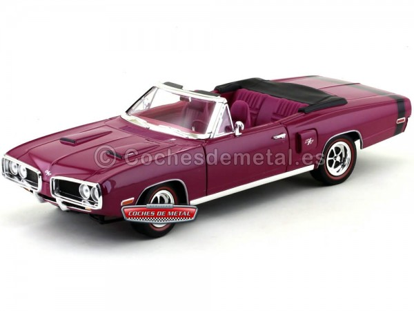1970 Dodge Coronet R-T Convertible Purple 1:18 Lucky Diecast 92548 Cochesdemetal.es