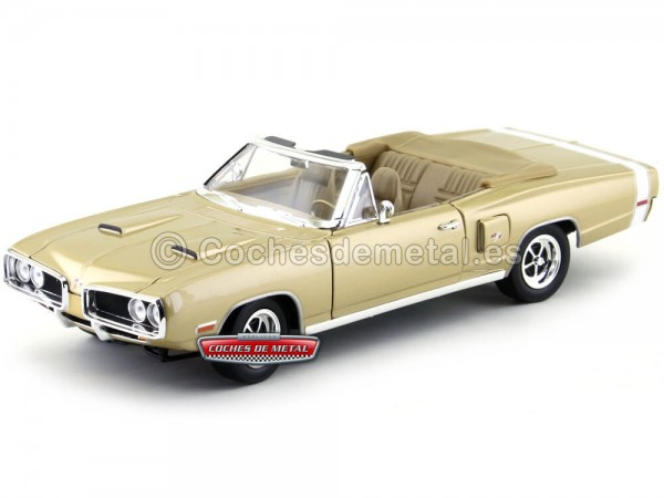 1970 Dodge Coronet R-T Convertible Golden Brown 1:18 Lucky Diecast 92548 Cochesdemetal.es