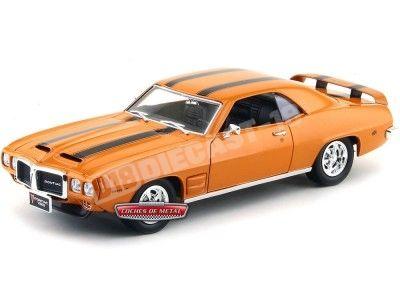 1969 Pontiac Firebird Trans Am Naranja 1:18 Lucky Diecast 92368 Cochesdemetal.es