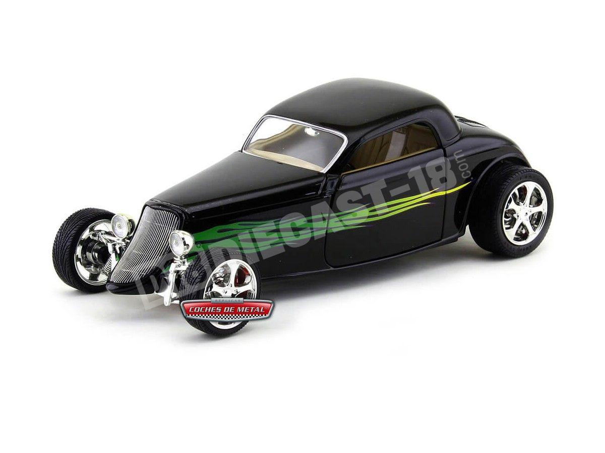 1933 Ford Coupé Shyne Rodz Negro 1:18 Lucky Diecast 92839 Cochesdemetal.es