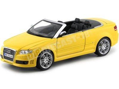 2007 Audi RS4 V8 4.2 FSI Cabriolet Amarillo 1:18 Maisto 31147 Cochesdemetal.es