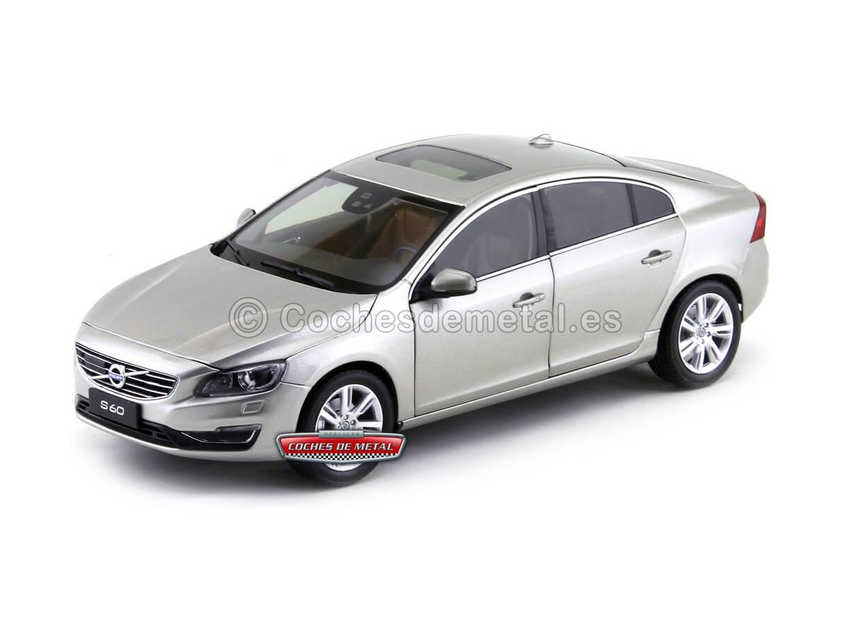 2015 Volvo S60 T5 Seashell Metallic 1:18 Motor City 88150 Cochesdemetal.es