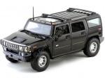 2003 Hummer H2 SUV Negro Metalizado Maisto 36631