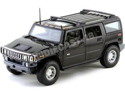 2003 Hummer H2 SUV Negro Metalizado Maisto 36631 Cochesdemetal.es