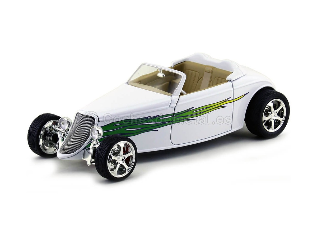 1933 Ford Convertible HOT ROD Blanco 1:18 Lucky Diecast 92838 Cochesdemetal.es