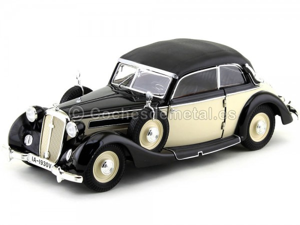 1939 Horch 930V Convertible Beige-Negro 1:18 Ricko 32152 Cochesdemetal.es