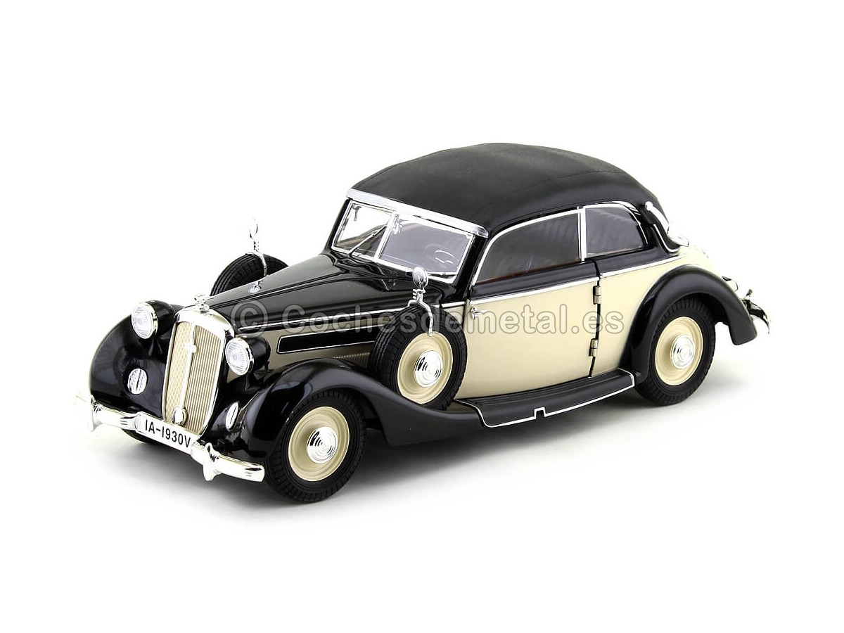 1939 Horch 930V Convertible Beige-Negro 1:18 Ricko 32152 Cochesdemetal.es