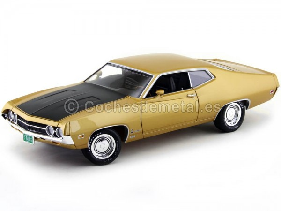 1970 Ford Torino Cobra 429-4V Bright Gold 1:18 Auto World AMM1039 Cochesdemetal.es