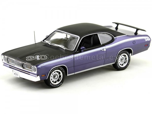 1971 Plymouth Duster 340 Wedge FC7 Violet Purple Auto World AMM1052 Cochesdemetal.es