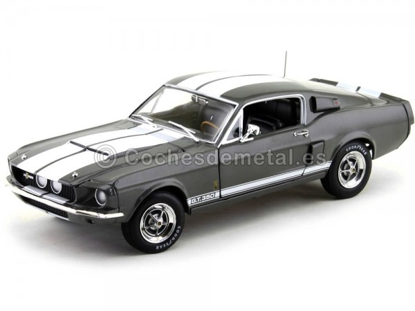 1967 Shelby Ford Mustang GT350 Grey Metallic 1:18 Auto World AMM1060 Cochesdemetal.es