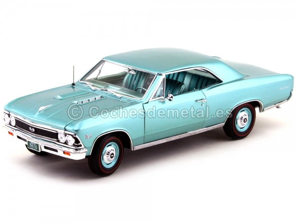 1966 Chevrolet Chevelle SS 396 Turquoise 1:18 Auto World AMM1066 Cochesdemetal.es