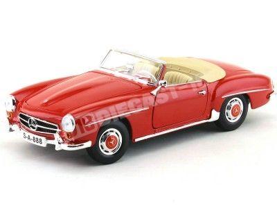 1955 Mercedes-Benz 190SL W121 Cabriolet Rojo 1:18 Maisto 31824 Cochesdemetal.es