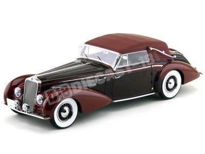 1939 Delage D8-120 Cabriolet Metallic Dunkelrot-Rot 1:18 Minichamps 107115130 Cochesdemetal.es