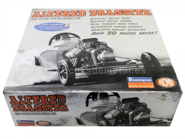 "1960 Bantam Altered Dragster Metal Modelkit ""Kit para Montar"" 1:18 GMP ACME A1800807K Cochesdemetal.es"
