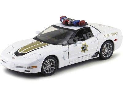 2005 Chevrolet Corvette C6 State Trooper Blanco 1:18 Maisto 31383 Cochesdemetal.es