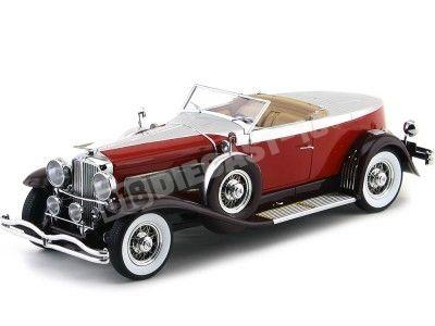 1929 Duesenberg Model J Torpedo Convertible Coupe Rojo 1:18 Minichamps 107150430 Cochesdemetal.es