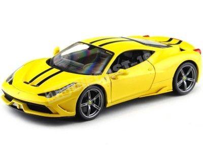 2013 Ferrari 458 Speciale Amarillo 1:18 Bburago 16002 Cochesdemetal.es