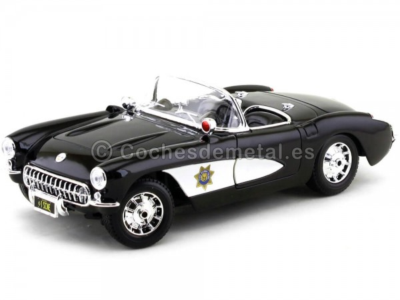 1957 Chevrolet Corvette Cabrio State Highway Patrol 1:18 Maisto 31380 Cochesdemetal.es