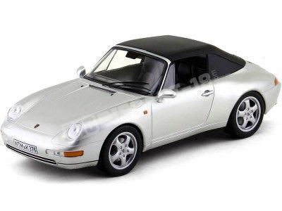 1993 Porsche 911 Carrera Cabriolet Silver 1:18 Norev 187592 Cochesdemetal.es