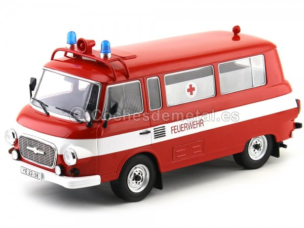 1965 Barkas B 1000 Feurewehr Mini Bus Bomberos 1:18 MC Group 18010 Cochesdemetal.es