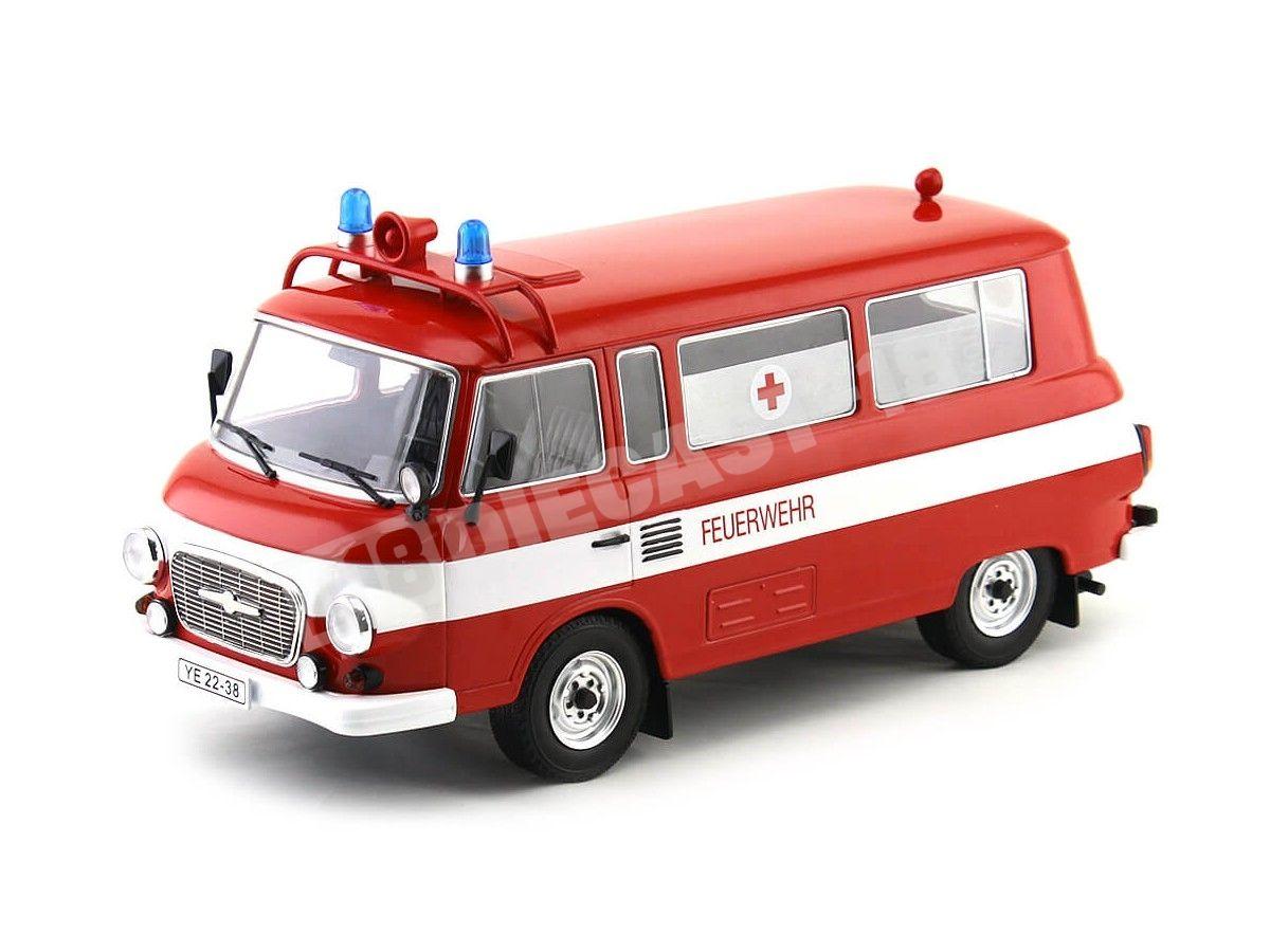 1965 Barkas B 1000 Feurewehr Mini Bus Bomberos 1:18 MC Group 18010 Cochesdemetal.es