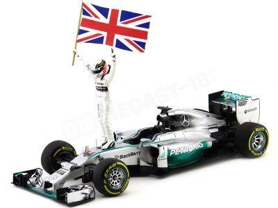 2014 Mercedes AMG Petronas F1 Team W05 Hamilton Winner GP Abu Dahbi Minichamps 110140644