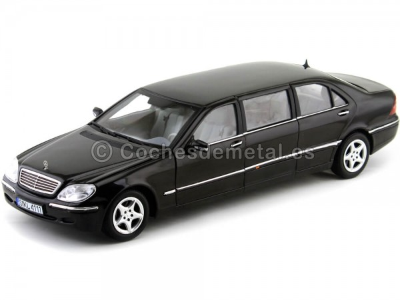 2000 Mercedes-Benz S Class 600 Pullman Negro Metalizado 1:18 Sun Star 4111 Cochesdemetal.es