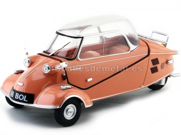 1955 Messerschmitt KR200 Bubble Top Rosa 1:18 Oxford 18MBC003 Cochesdemetal.es