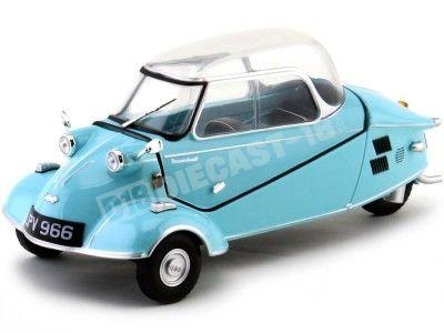 1955 Messerschmitt KR200 Bubble Top Azul 1:18 Oxford 18MBC004 Cochesdemetal.es