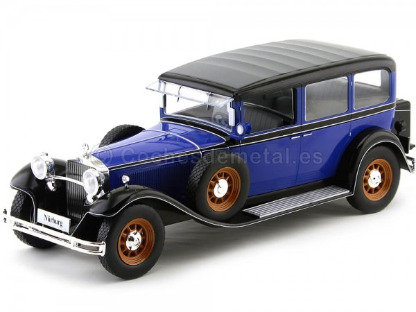 1928 Mercedes-Benz 460K Type Nurburg (W08) Papamóvil Azul 1:18 MC Group 18033 Cochesdemetal.es