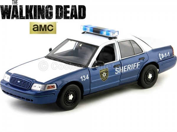"""2001 Ford Crown Victoria """"The Walking Dead"""" 1:18 Greenlight Collectibles 12957 Cochesdemetal.es"""