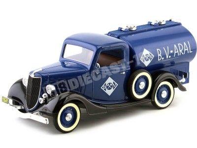 1936 Ford V8 Camión Cisterna B. V. Aral Azul Metalizado Solido 4110 Cochesdemetal.es