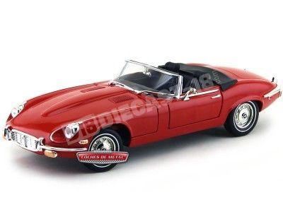 """1971 Jaguar Type """"E"""" V12 Cabriolet Rojo 1:18 Lucky Diecast 92608 Cochesdemetal.es"""