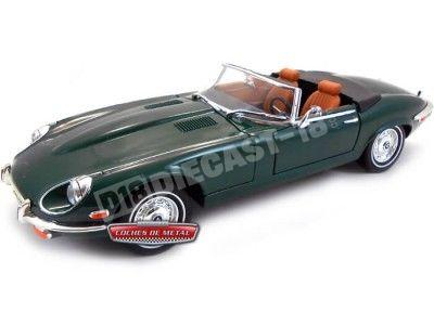 "1971 Jaguar Type ""E"" V12 Cabriolet Verde 1:18 Lucky Diecast 92608 Cochesdemetal.es"