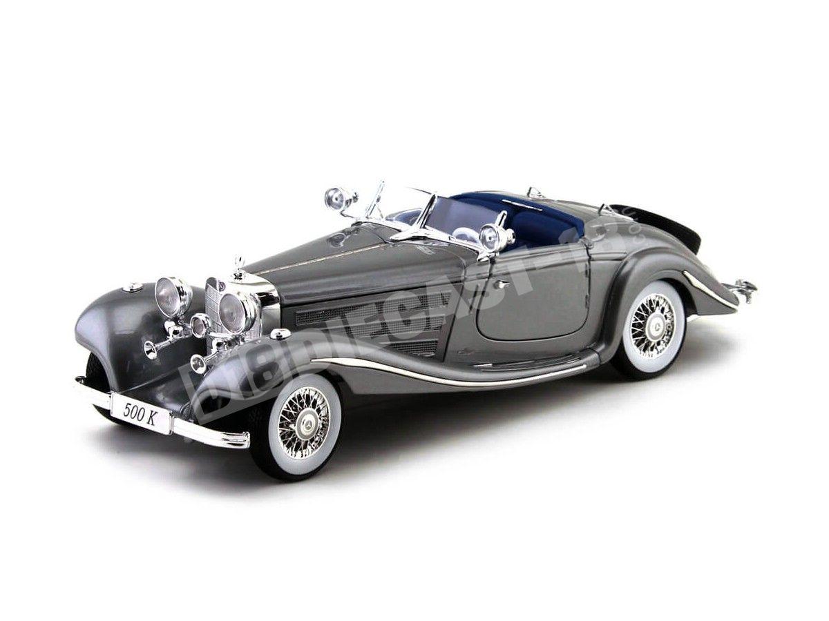 1936 Mercedes-Benz 500K TYP Specialroadster Gris 1:18 Maisto 36862 Cochesdemetal.es