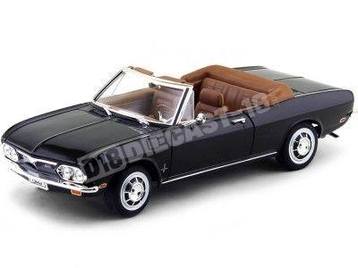 1969 Chevrolet Corvair Monza Convertible Negro 1:18 Lucky Diecast 92498 Cochesdemetal.es